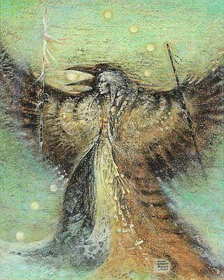 """Crows Ravens:  """"Raven Woman,"""" by Susan Seddon Boulet.  ❤❦♪♫"""