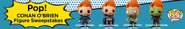 Pop! Conan O'Brien Figure Sweepstakes