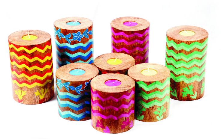 Laheriya Pillar T-light holders