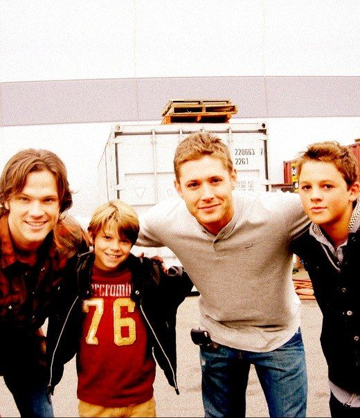Sam and Sam, and Dean and Dean, Supernatural..... the kid Dean is kinda close, but kid Sam is REALLY close! :) cuties, all 4 of them :D
