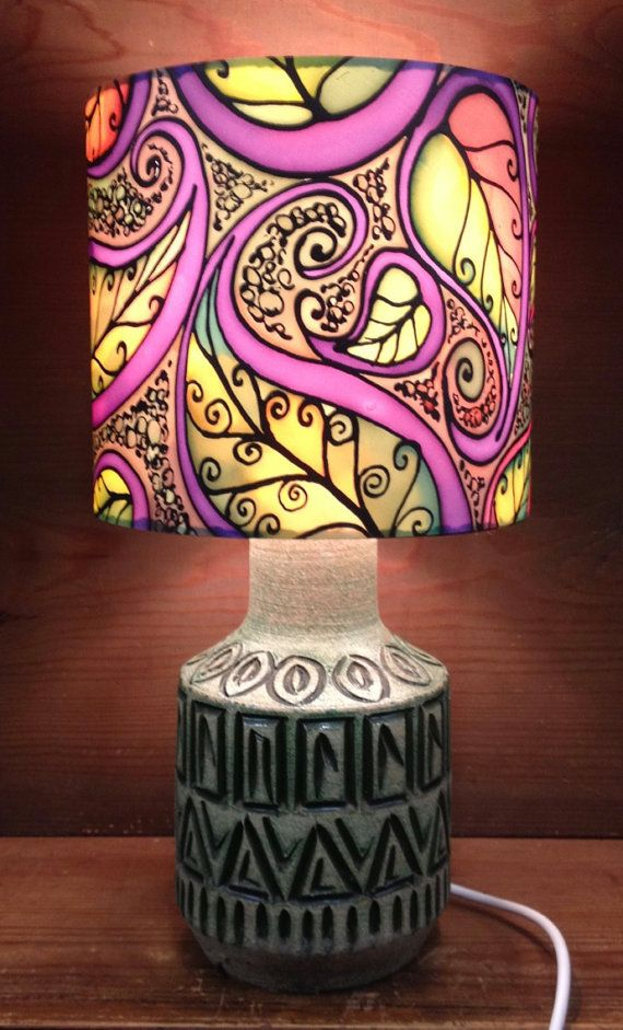44 best silk painted lamp shades images on pinterest painted autumn leaf paisley lamp shade multi colour hand silk painted shade 20cm drum made to order aloadofball Choice Image