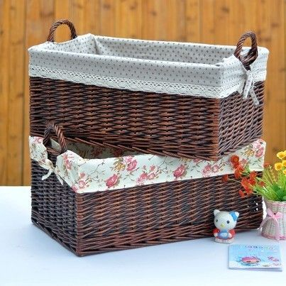 Extra large the handle sinoca wicker rattan laundry basket laundry basket storage basket storage box with lid rustic 3-inStorage Baskets fro...