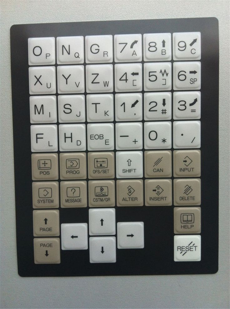 A98L-0005-0298#T Fanuc  KEYSHEET KEYPAD Keyboard For Turning Machine