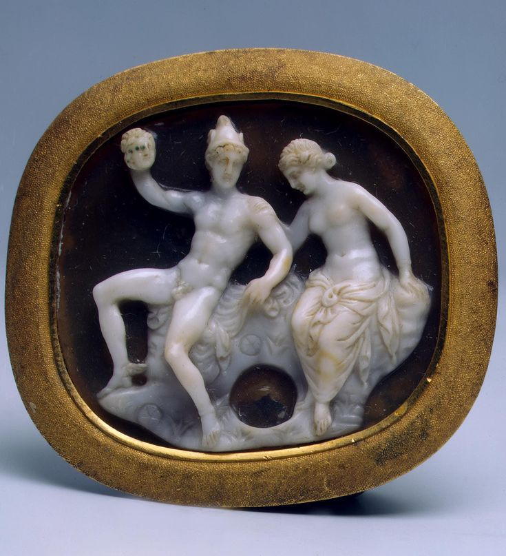 Perseus and Andromeda | sardonyx, gold, Rome, 1st century BC