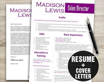 Items similar to Resume Template Download Editable - Microsoft Word - Teacher, Realtor, Nurse, Professional, on Etsy