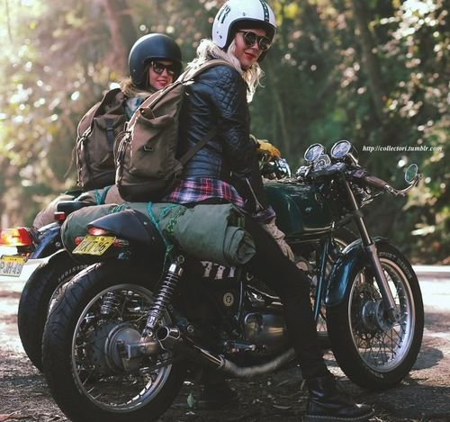 Both originally from Sweden, Maria and her best friend, Nina, love to ride. #biker #queen http://youtu.be/uyupkfBE_IQ