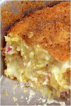 Una goduria senza fine questo gateau di patate al formaggio, con crosticina croccante e interno morbido
