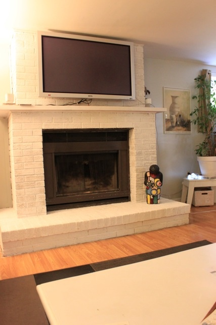 Fireplace White Brick For The Home Pinterest