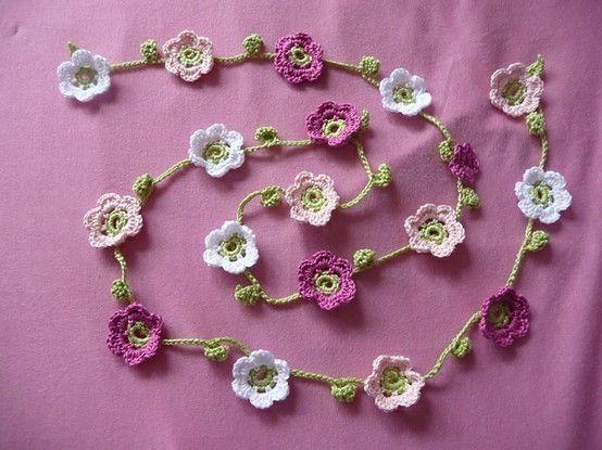 crochet garland by blanche