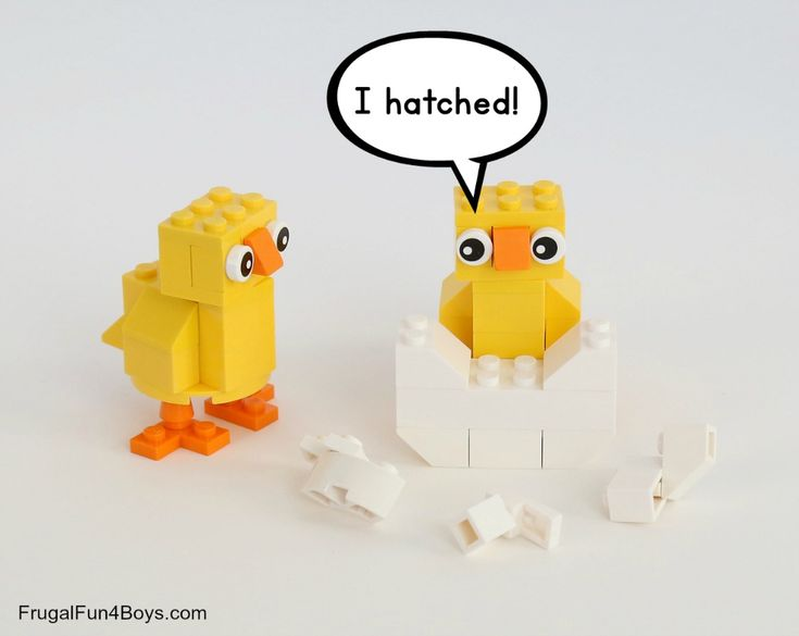 Spring Builds! How to Make Chicks, Bunnies, and Butterflies with LEGO Bricks - Frugal Fun For Boys and Girls in 2021 | Lego easter, Lego, Lego for kids