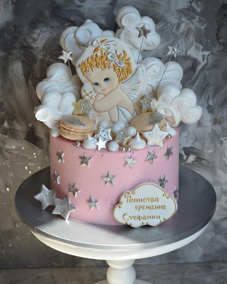 может торт на крестины с ангелами фото этом