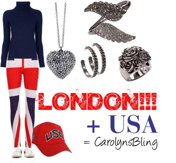 """LONDON + USA = CarolynsBling"" by carolynsbling on Polyvore"
