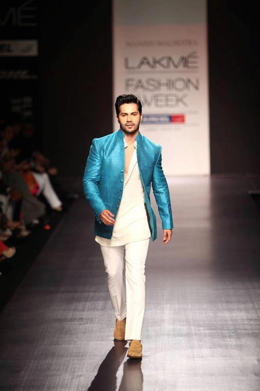 I love the colour! I don't know how this type of clothes is called :S Varun Dhawan in Manish Malhotra
