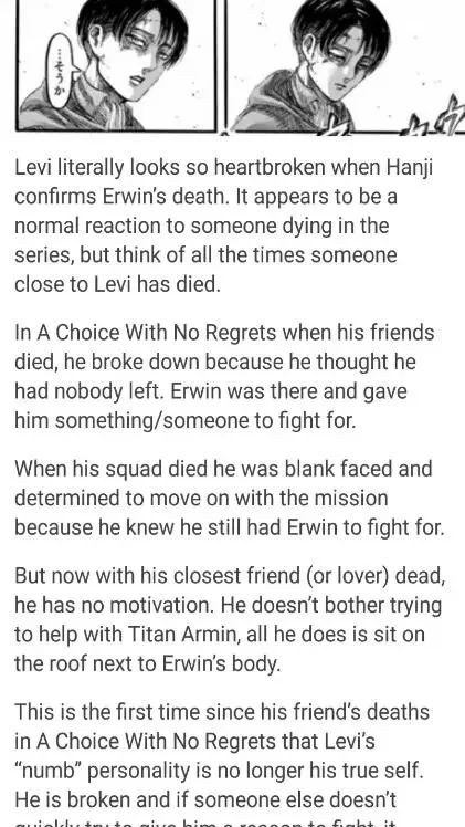 i dont ship Eruri but this is sad
