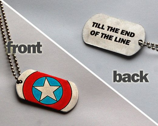 pre-order: Captain America dog tags till the end by TwinsGeekShop