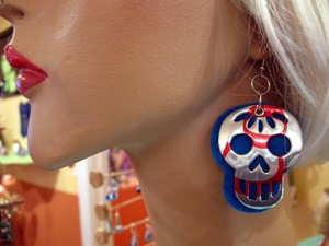 Recycled soda can earrings