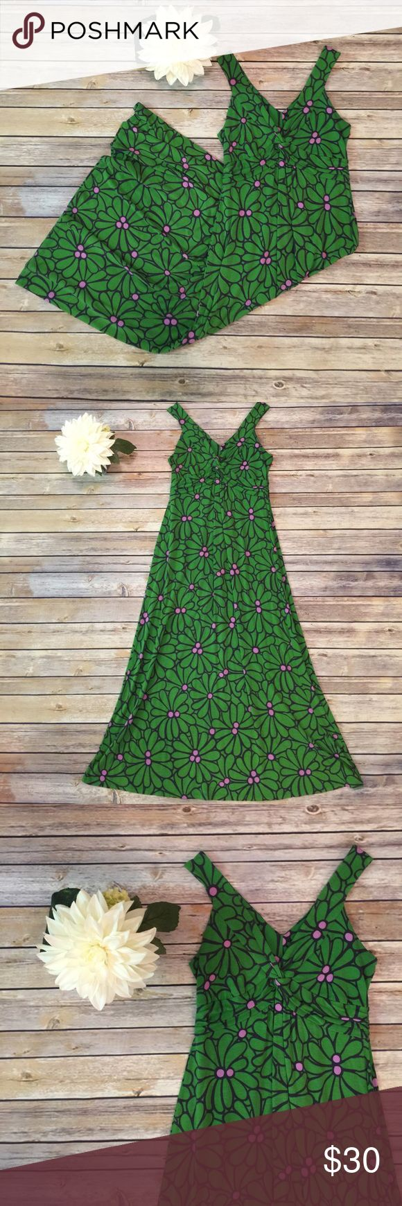 """Boden Green Petite Dress Boden Petite Green dress.  In great condition.  Has some minor piling.  Bust 32"""" Waist 28"""" Length 46"""".  Fits more like. 4/6. Boden Dresses"""