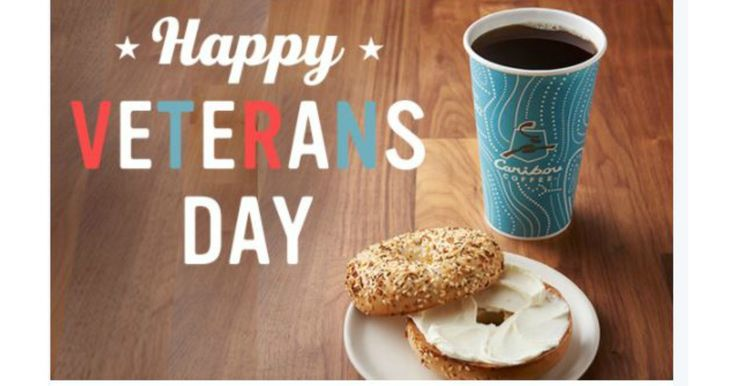 FREE Coffee & Bagel (or any bakery item) @ Caribou Coffee For Veterans & Active Duty Military Today Only! (11/11) -  FREE Coffee & Bagel (or any bakery item) @ Caribou Coffee For Veterans & Active Duty Military Today Only! (11/11) Stay warm and feel the thanks. Veterans, come in for a complimentary small brewed coffee and a bagel with shmear (or any bakery item) on 11/11 only (Veteran's... - http://www.mwfreebies.com/2017/11/11/free-coffee-and-bagel-or-any-baker
