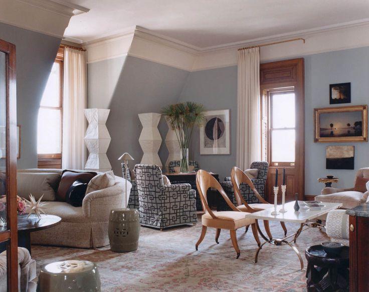 Chic Living Room In Manhattan Jeffrey Bilhuber Design