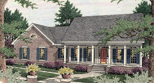 Like this house plan a lot only with a basement for Basement only house plans
