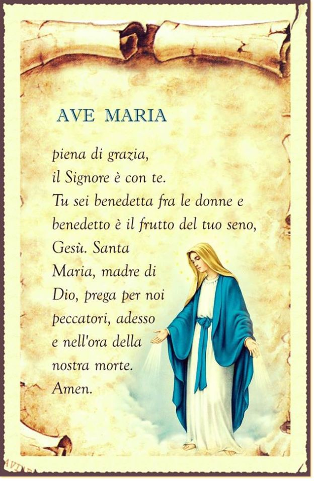 Ave Maria (in italiano, latino) - leggoerifletto