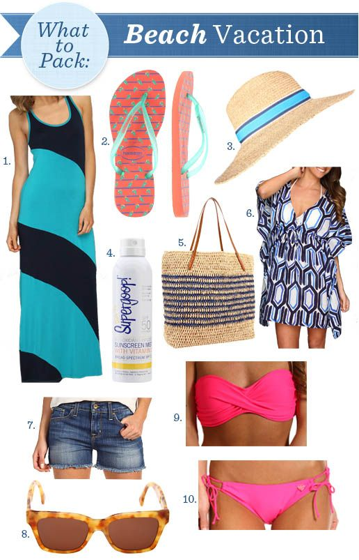 Top essentials to pack for your beach vacation.