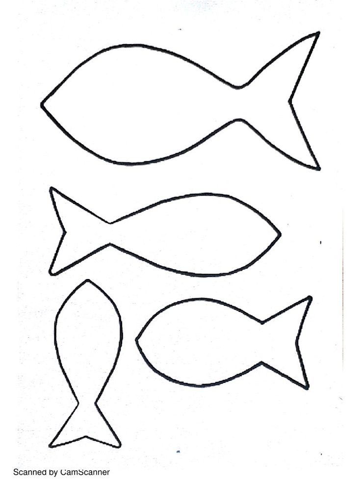 Best 25 fish template ideas on pinterest fish cut outs - Poisson dessin ...