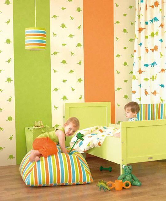 Decoraci n de cuartos con dinosaurios organizar cuarto for Habitaciones infantiles garabatos