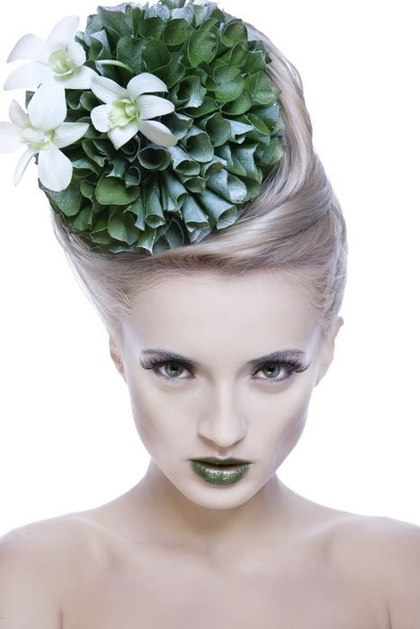 Floristics hairstyle