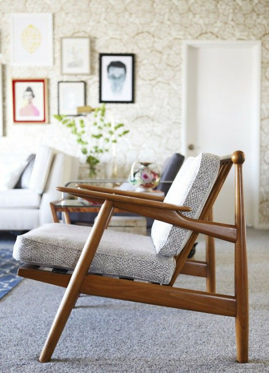Pure awesome.: Living Rooms, Design Ideas, Design Interiors, Mid Century Danishes Furniture, House, Midcentury, Danishes Modern, Chairs Inspiration, Interiors Ideas