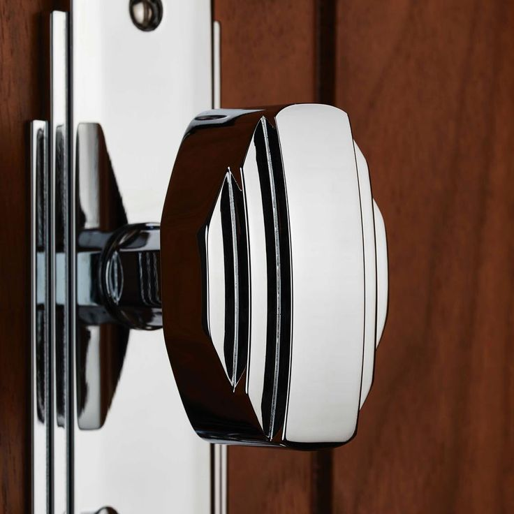 ADR023CP - Art Deco Knob on Backplate #LocksandHardware #CarlisleBrass #ArtDeco #interiordesign #Interior #GreatGatsby #greatgatsbystyle #Handles #dreamhome