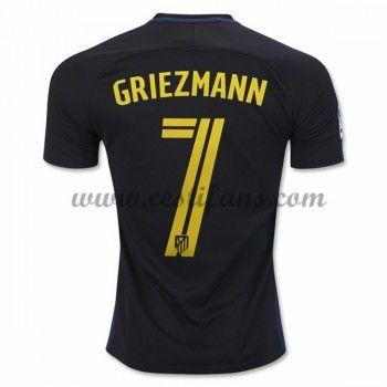 Atletico Madrid Fotbalové Dresy 2016-17 Griezmann 7 Venkovní Dres