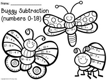 Buggy Math (1st-2nd) - perfect for morning work, a math center, emergency sub plans, etc.