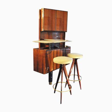 Italienische Mobile Vintage Bar Von Osvaldo Borsani Für Borsani Varedo...  Jetzt Bestellen Unter