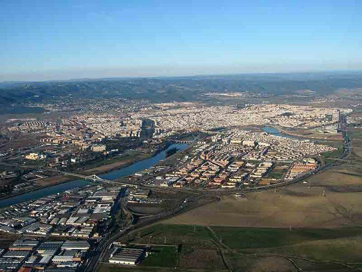 Vista general de Córdoba desde el cielo