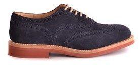 Church's Men's Blue Suede Lace-up Shoes.
