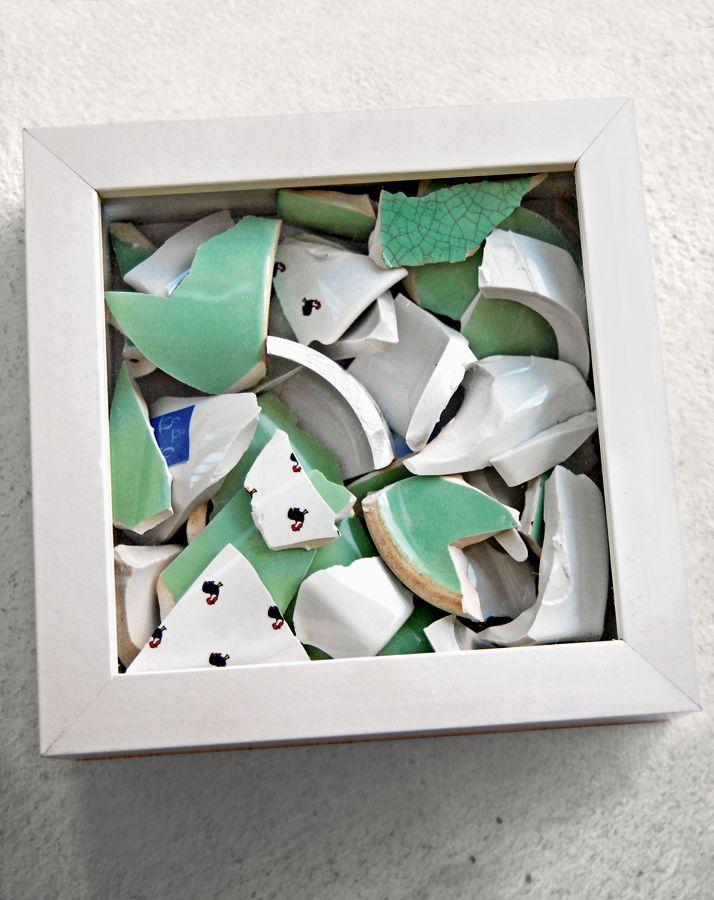 Errinerungsbild aus euren Scherben vom Polterabend – Geschenke zur Hochzeit