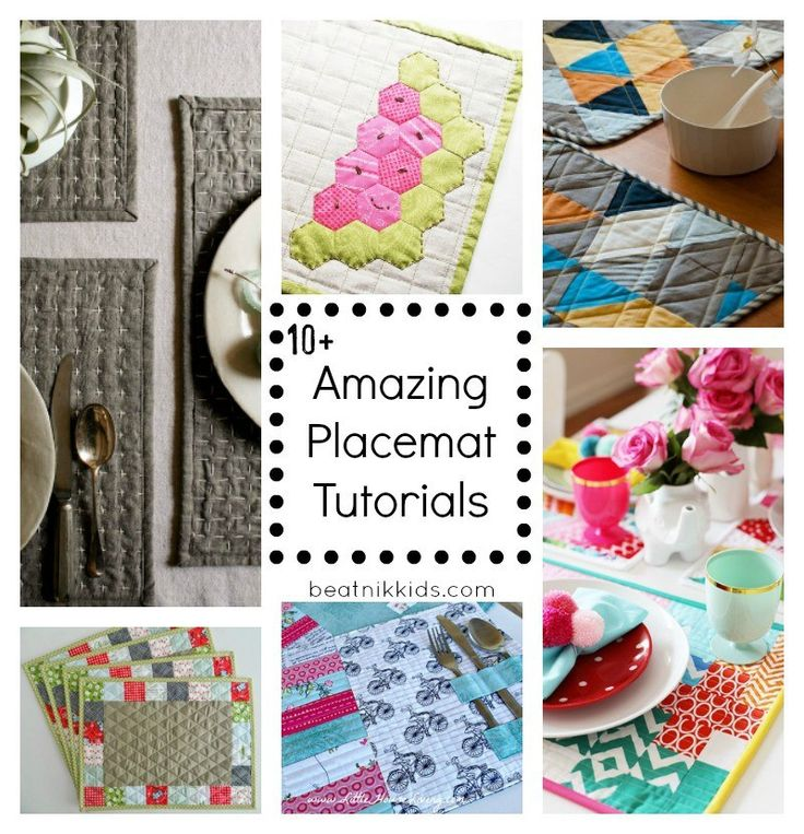 DIY Placemats are a great way to liven up the dinner table. Check out these 10+ Amazing DIY Placemats #fabricscraps #Gifts