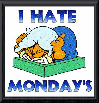 I hate Monday's funny day garfield monday days of the week weekdays graphic i hate mondays