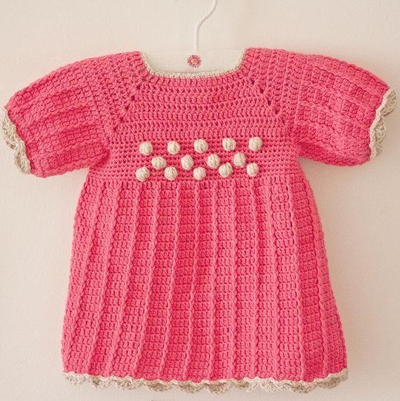 Crochet Popcorn Dress pattern on Craftsy.com