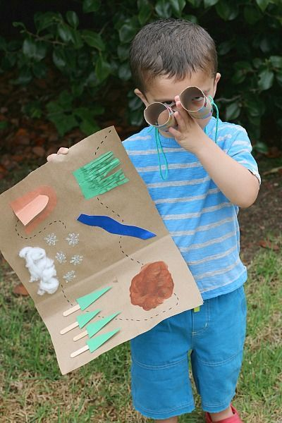 We're Going on a Bear Hunt Map and Binocular Activity for Kids~ BuggyandBuddy.com