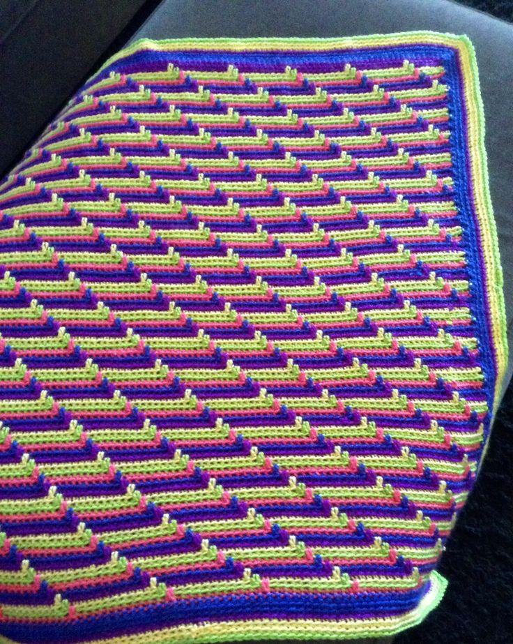 Baby Blanket Apache Tears Pattern Crochet Knit Blanket