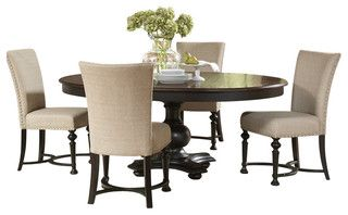 Riverside Furniture Williamsport 5 Piece Dining Table Set in Nutmeg/Kettle Black - Transitional - Dining Sets - by Cymax