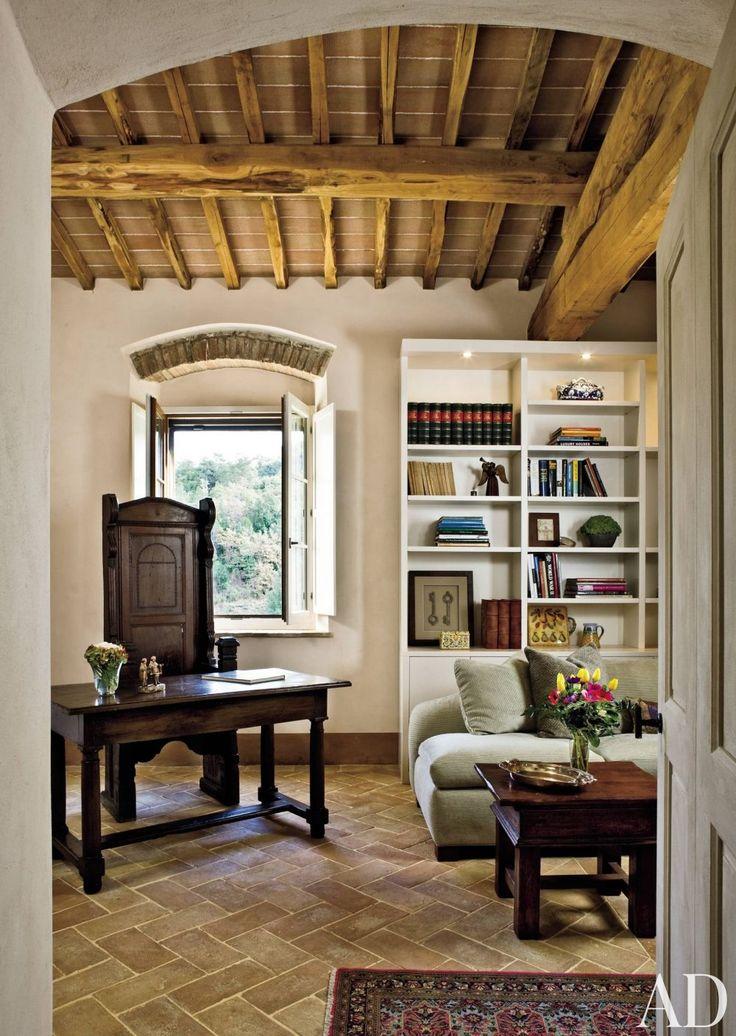 Rustic Office/Library By Spectrum Interior Design And Marco Vidotto In La  Convertoie, Italy