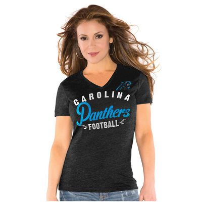 Carolina Panthers Touch by Alyssa Milano Women's All-American Tri-Blend T-Shirt - Black