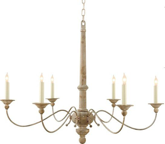 Country Chandelier, Belgian White - Ceiling Lights & Fans - Indoor and Outdoor Lighting - Lighting | One Kings Lane