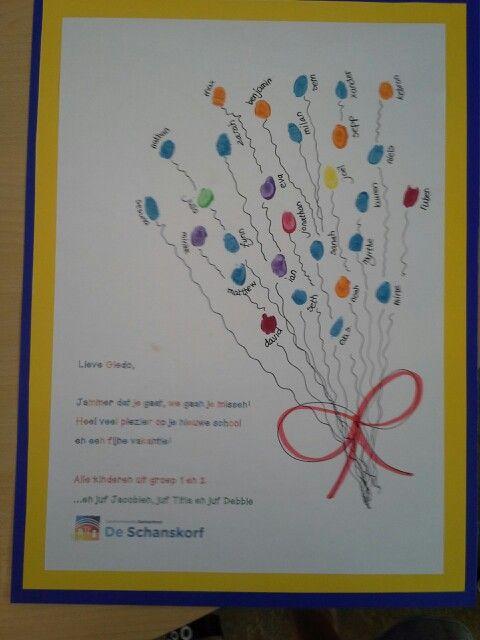 Tros ballonnen van vingerafdrukken...