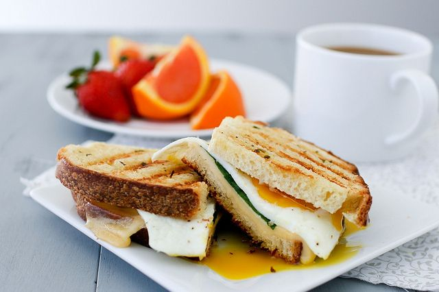 Breakfast Panini with Herbed Butter