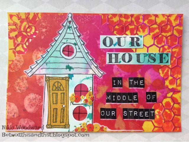 Postcard for a house themed trade