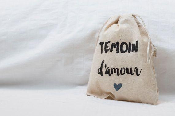Pochon Témoin d'amour  cadeau bridesmaid bestman par LeplusBeauJour